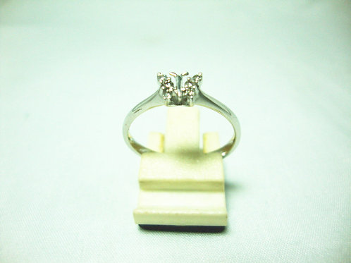 18K WHITE GOLD DIA RING 6/12P
