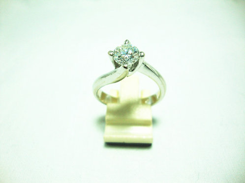 18K WHITE GOLD DIA RING 1/95P