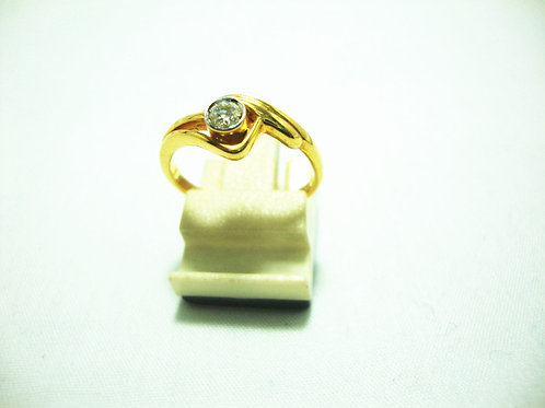 18K GOLD DIA RING 1/45P