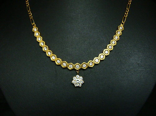 18K GOLD DIA NECKLACE 29/205P