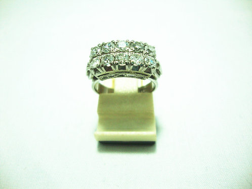 9K WHITE GOLD DIA RING 10/100P