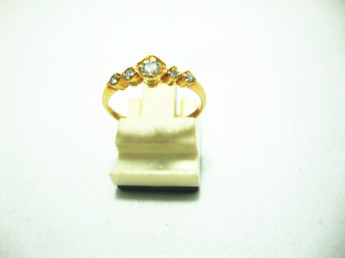 14K GOLD DIA RING 1/10P 4/12P