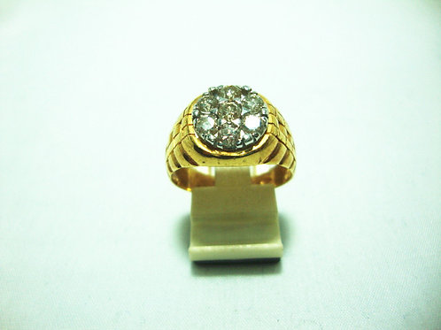 18K GOLD DIA RING 73P