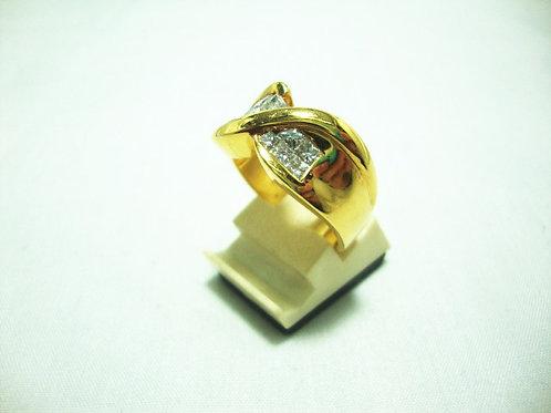 20K GOLD DIA RING 12/110P