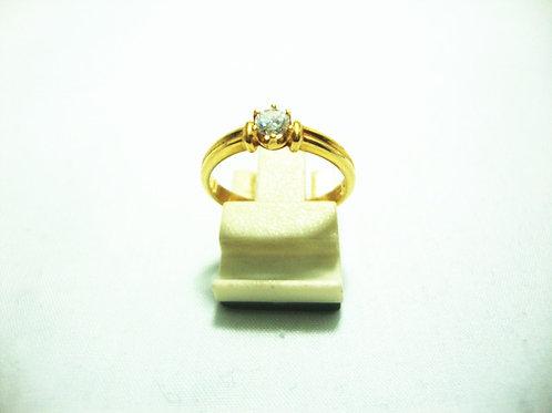 20K GOLD DIA RING 1/15P