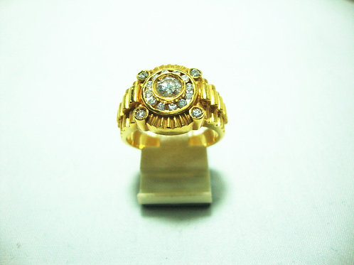 20K GOLD DIA RING 1/33P 35P