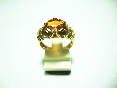 14K GOLD DIA STONE RING 20P