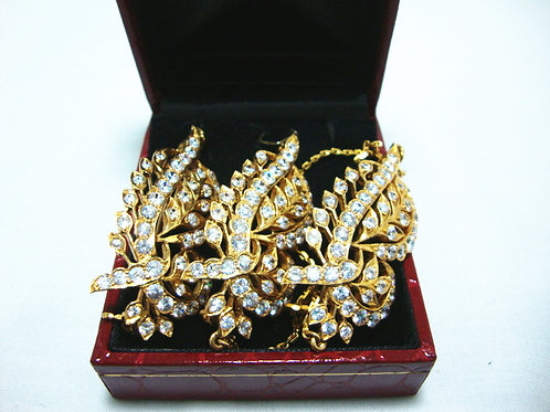 916 GOLD STONE BROOCH ( 3 )