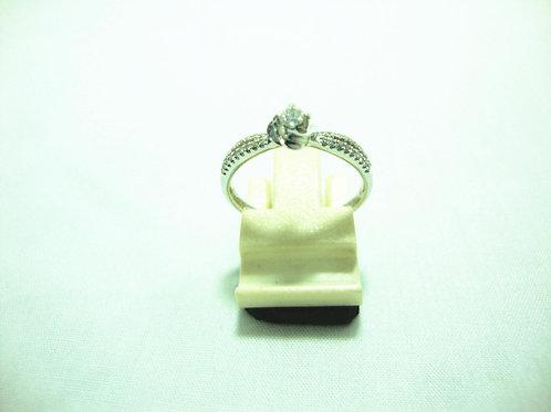 18K WHITE GOLD DIA RING 1/8P 36/36P