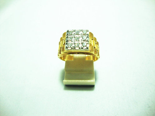 18K GOLD DIA RING 9/36P