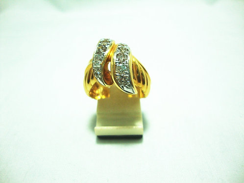 18K GOLD DIA RING 10/120P