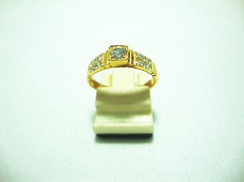 18K GOLD DIA RING 1/22P 12/16P