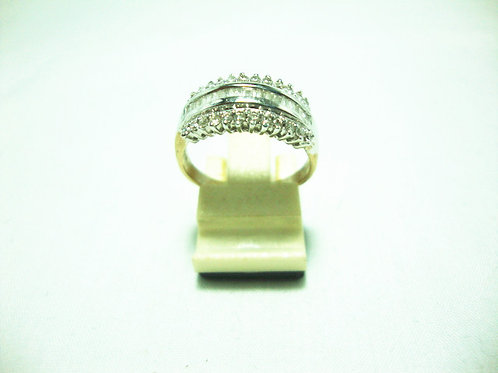 18K WHITE GOLD DIA RING 24/24P T20/20P