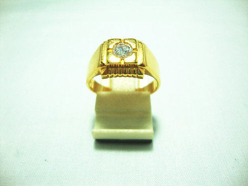 916 GOLD DIA RING 1/35P