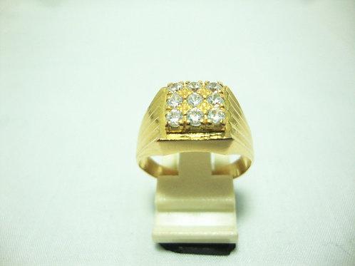 20K GOLD STONE RING