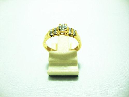 20K GOLD DIA RING 1/20P 8/16P