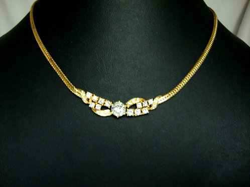 18K GOLD DIA NECKLACE 1/95P 12/96P 14/14P