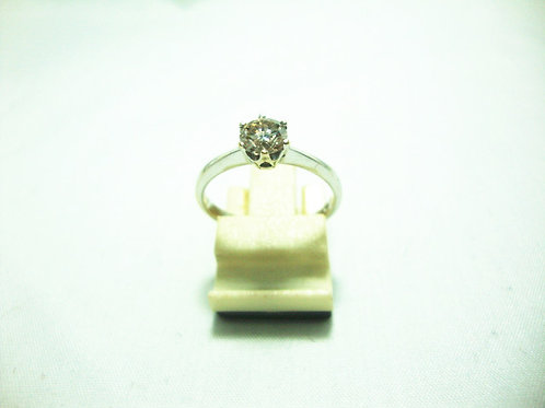 18K WHITE GOLD DIA RING 1/48P