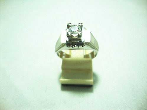 18K WHITE GOLD DIA RING 1/38P