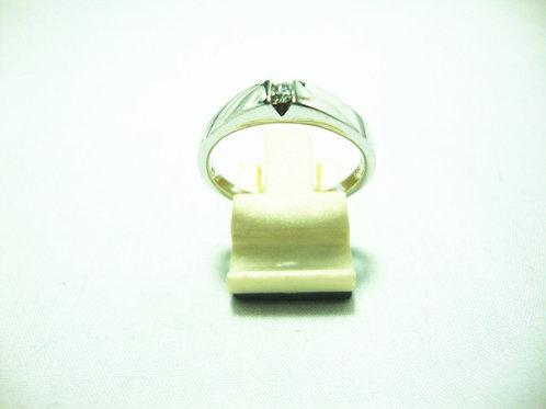 18K WHITE GOLD DIA RING 1/7P