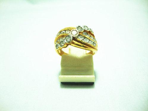 20K GOLD DIA RING 68P