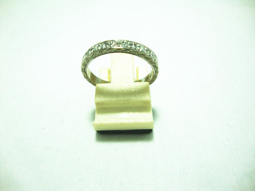 14K WHITE GOLD DIA RING 50P