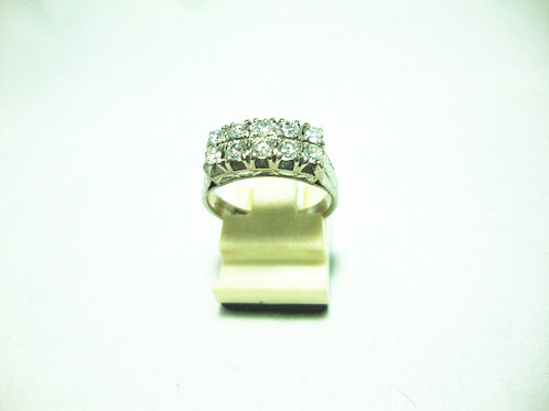 18K WHITE GOLD DIA RING 100P