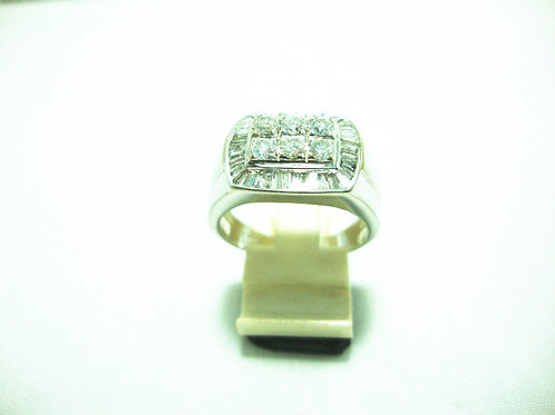 18K WHITE GOLD DIA RING 6/54P T41/82P