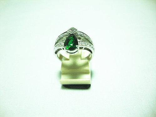 18K WHITE GOLD DIA STONE RING 1/12P 24/120P