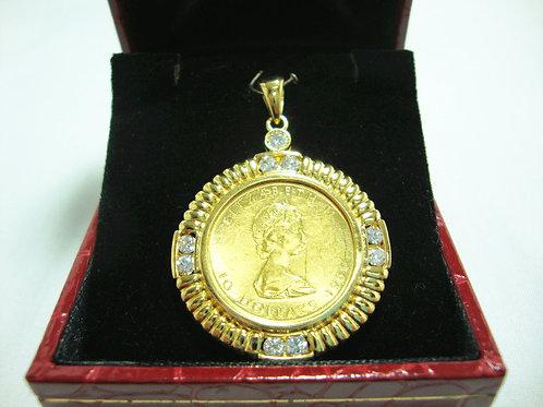 24K GOLD DIA PENDANT ( FRAME 20K ) 1/8P 8/48P