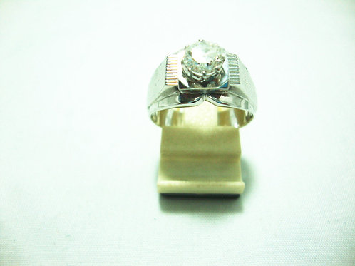 18K WHITE GOLD DIA RING 70P