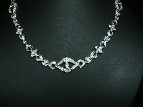 18K WHITE GOLD DIA NECKLACE 5/30P 10/40P 240/480P