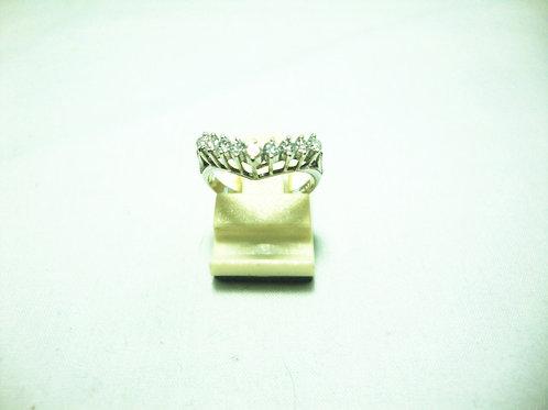 PLATINUM 900 WHITE GOLD DIA RING 45P