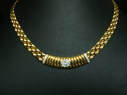 18K GOLD DIA NECKLACE 1/85P 5/10P
