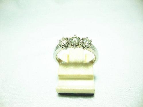 18K WHITE GOLD DIA RING 3/45P