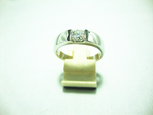 18K WHITE GOLD DIA RING 1/55P ( CERT )