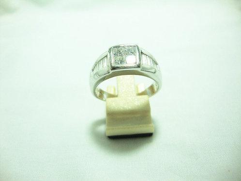 18K WHITE GOLD DIA RING 4/92P T16/100P