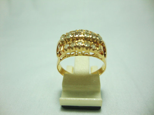 18K GOLD DIA RING 16/48P