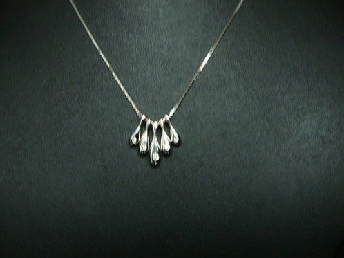 18K WHITE GOLD DIA NECKLACE 5/15P