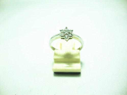 18K WHITE GOLD DIA RING 8/24P