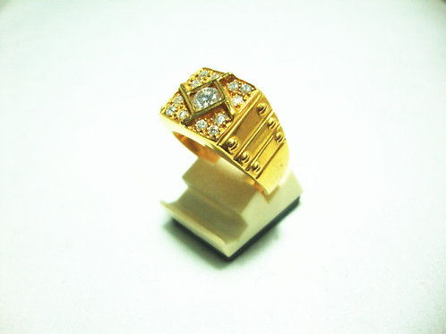 20K GOLD DIA RING 1/27P 12/12P