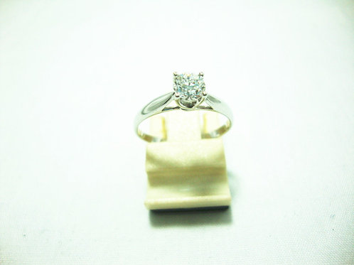 18K WHITE GOLD DIA RING 1/42P