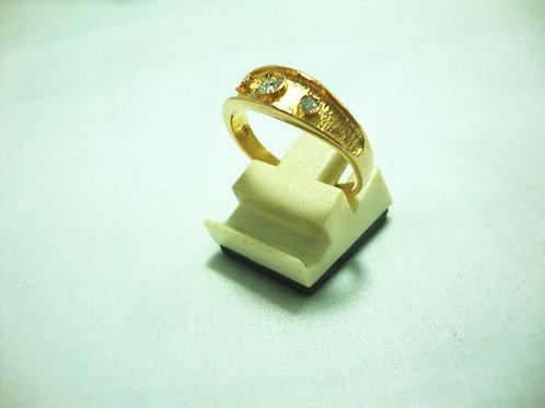 20K GOLD DIA RING 1/15P 2/4P