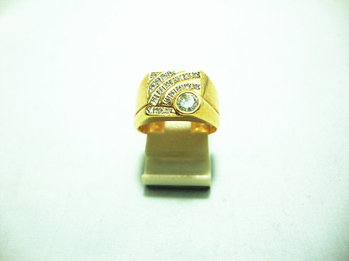 18K GOLD DIA RING 1/25P 10P