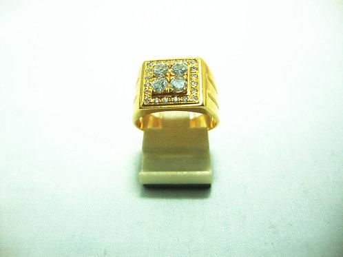20K GOLD DIA RING 75P