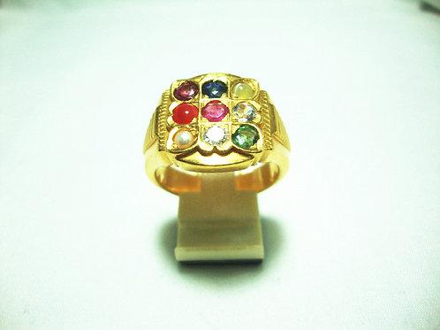 916 GOLD DIA GEM STONE RING 1/15P