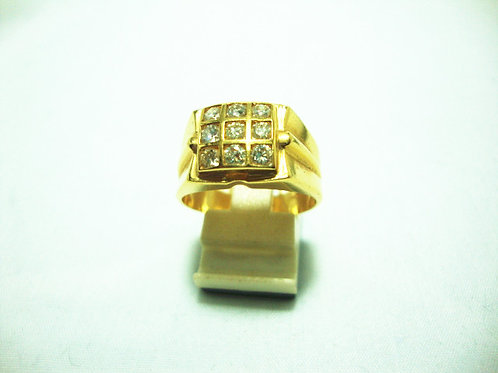 20K GOLD DIA RING 90P