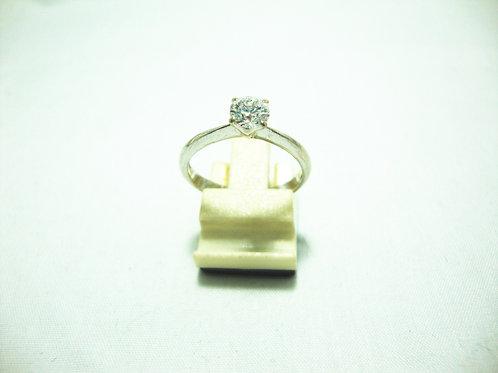 18K WHITE GOLD DIA RING 1/48P ( CERT )