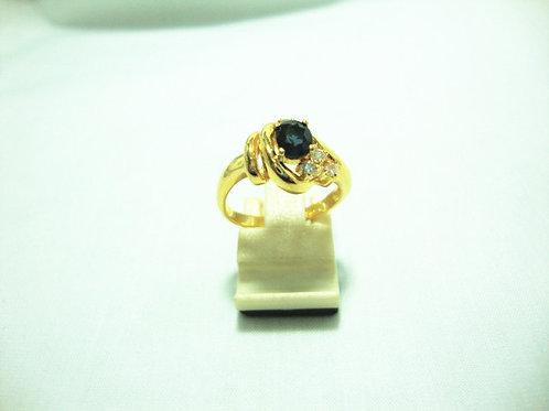 18K GOLD DIA SAPPHIRE RING 4/16P