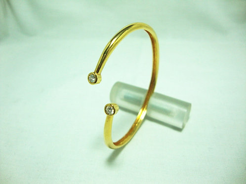 18K GOLD DIA BANGLE 2/26P